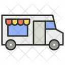 Food Stand Vending Cart Food Vending Icon