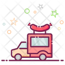 Food Truck Delivery Van Parcel Delivery Icon