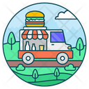 Food Truck Food Delivery Food Service Icon