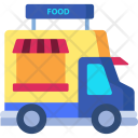 Food Truck Live Food Food Delivery Icon