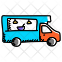 Food Delivery Food Truck Food Vehicle Icon