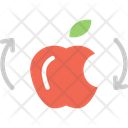 Food Waste Reuse Apple Recycling Food Icon