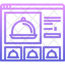 Card Cloche Food Icon
