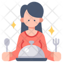 Women Client And Meal Client Woman Icon