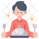 Men Client And Meal Client Man Icon