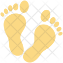 Foot Footprints Footsteps Icon