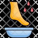 Foot Care Foot Massage Foot Moisturizing Icon