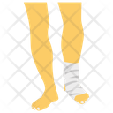 Foot Bandage Foot Ache Foot Dressing Icon