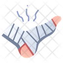 Injury Treatment Foot Icon
