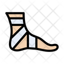 Bandage Injury Foot Icon