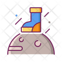Foot On Surface Of Moon Icon