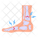 Foot Pain Foot Injury Foot Ache Icon