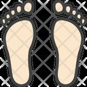 Foot Print Hyperpronation Foot Icon
