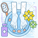 Pedicure Relaxation Spa Icon