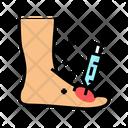 Foot Syringe Syringe Treatment Icon