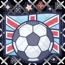Football Checkered Ball England Sports Icon