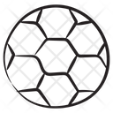 Football Checkered Ball Olympic Game Icon