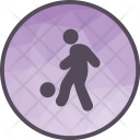 Football Player Playing Icon