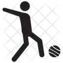 Football Sportsman Playing Football Icon