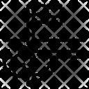 Football Field Corner Flag Corner Triangular Icon