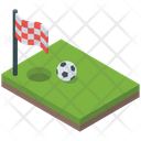 Soccer Ground Football Ground Goalpost Icon