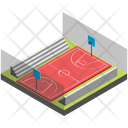 Football Ground Badminton Court Tennis Court Icon