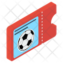 Football Match Ticket Icon