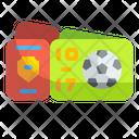 Football Match Ticket Football Match Pass Ticket Icon