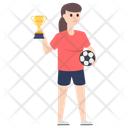 Football Match Winner Champion Award Icon