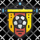 Football Pennant Pennant Soccer Icon