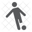 Soccer Player Kickball Icon