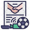 Football Player Public Contract Icon