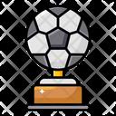 Football Trophy Winning Shield Sports Badge Icon