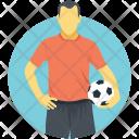 Footballer Sportsman Game Icon