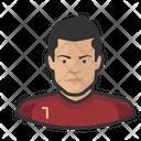 Footballer Cristiano Ronaldo Avatar User Icon