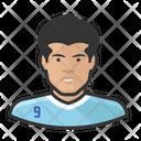 Footballer Luis Suarez Avatar User Icon