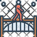 Footbridge Walking Bridge Icon