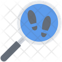 Footprint Magnifier Search Icon