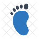 Footprint Barefoot Child Icon