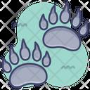 Footprints Trace Bear Icon