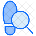 Footprint Court Crime Icon
