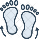 Footprints Direction Sketch Footprints Direction Icon