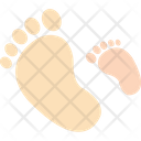 Footsteps Family Footprint Footprints Icon