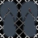 Footwear Beach Slippers Icon