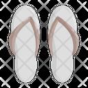 Footwear Slippers Flip Icon
