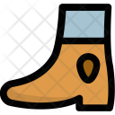 Ankle Cowboy Shoes Icon