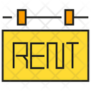 For Rent Signage Signboard Icon