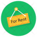 For Rent Hanger For Rent Tag For Rent Label Icon