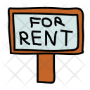 For rent signboard Icon