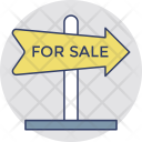 Sale Signboard Advertisement Icon